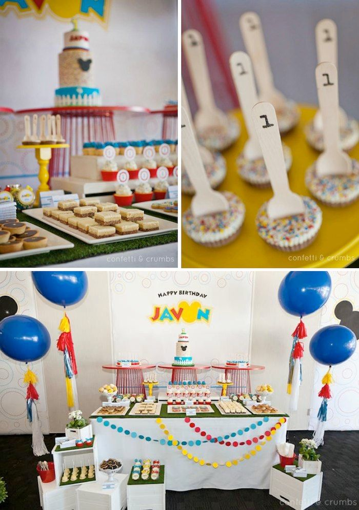 Mickey Mouse themed birthday party Disney Party Pinterest