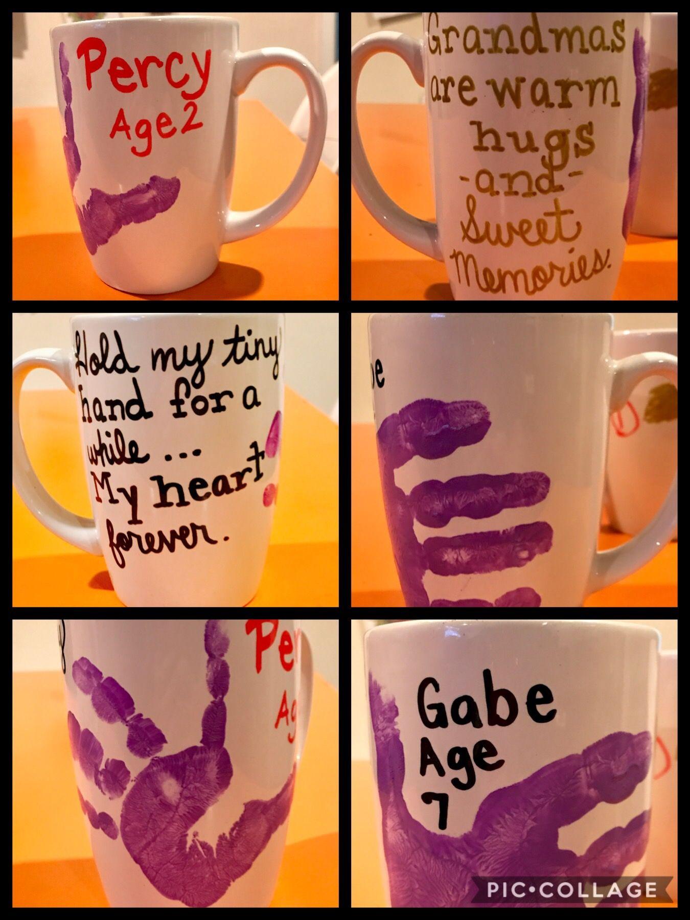 Kid Craft Christmas Gift For Grandma Ceramic Mug, Oil Based