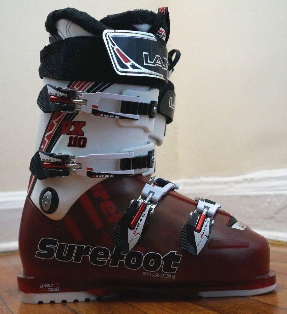 5288aa7334 Surefoot Lange RX 110 Men s Ski Boot 8.5 Surefoot C1 Custom Liner Mondo  26.5  SurefootLange