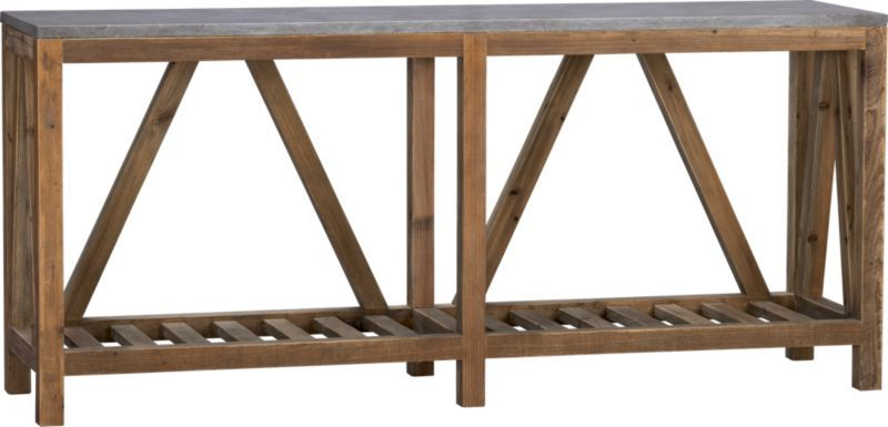 Bluestone Console Table Crate And Barrel For Front Entry Like