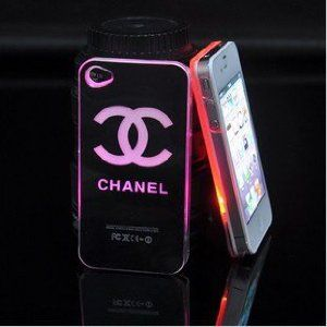 New Chanel LED Flash light Case Cover for Apple iPhone 4 4S 4G LED LCD Color Changed,With Free Cell Phone Strap included$19.99