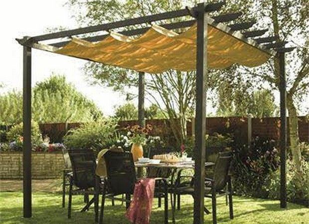 7 X7 Pergola Plans Backyard Shade Canopy Outdoor Patio Canopy