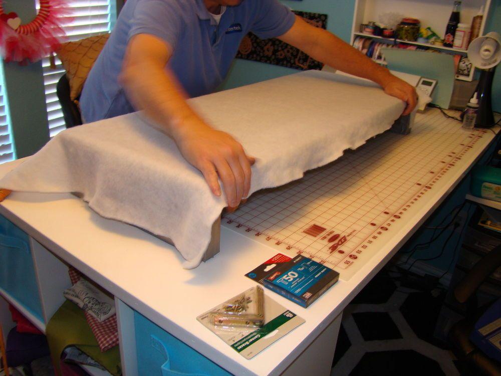 Easy and light cornice boards from foam board cornice