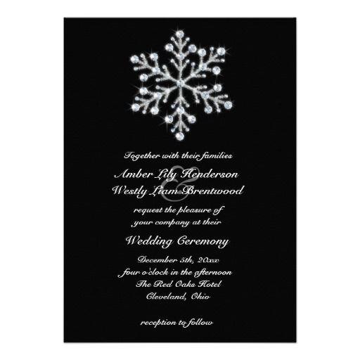 Winter Wedding Invitations Cheap: Winter Snowflake Wedding Invitation 2