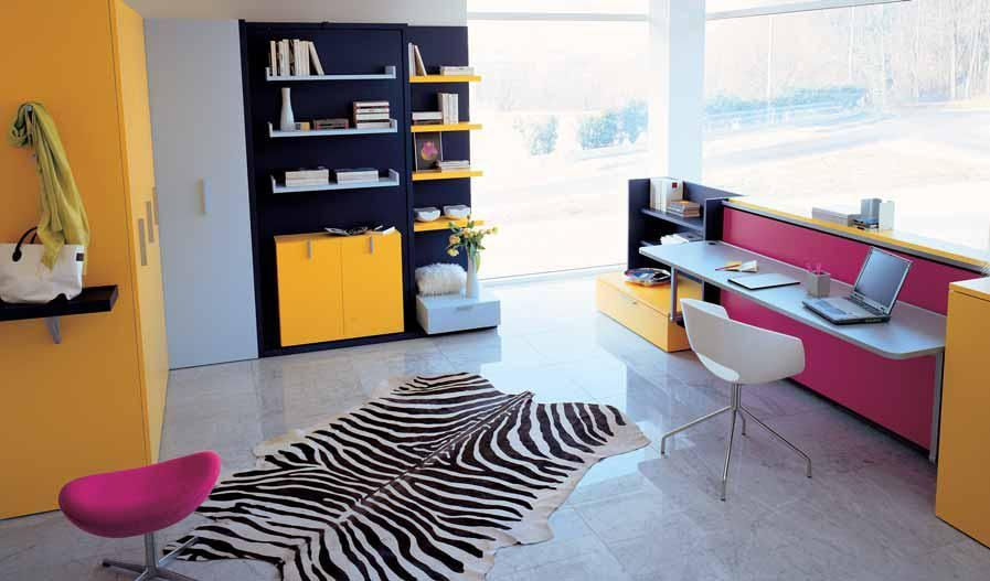 Bedroom Designs Small Spaces I Love Convertible Furniturein This Example Of A Teen's Room The