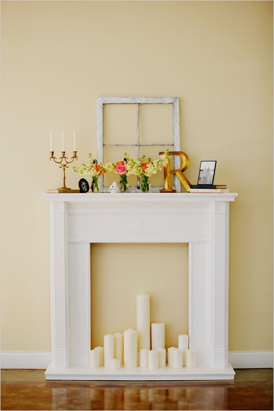 Faux Fireplace Ideas and Projects muebles para TV, Casa playa y Borges
