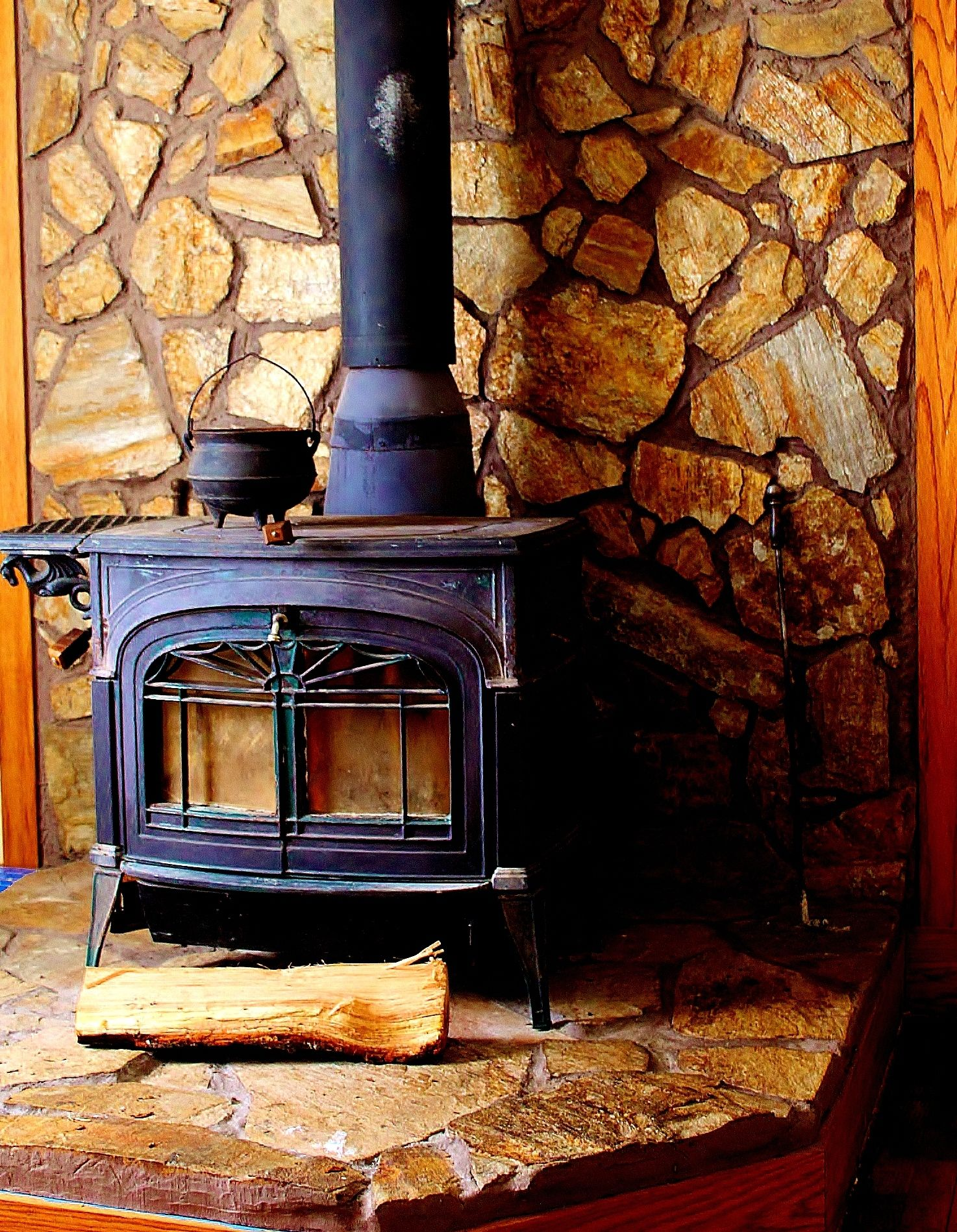 I Grew Up With A Woodstove On A Stone Hearth Curled Up