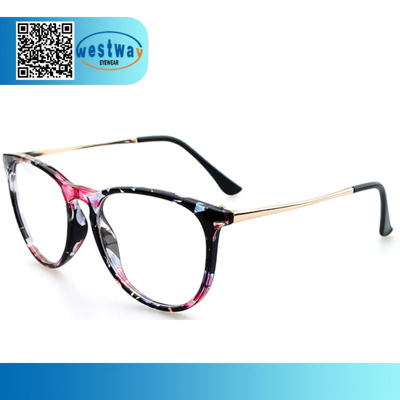 2014 Print Frame Cat Eye Prescription Glasses New Designer Oculos de ...