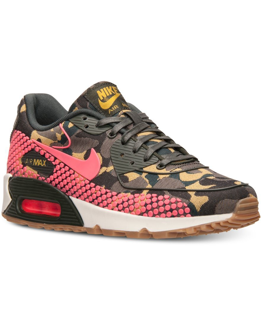 the latest add70 6ee98 Nike Women s Air Max 90 Jacquard Premium Running Sneakers from Finish Line