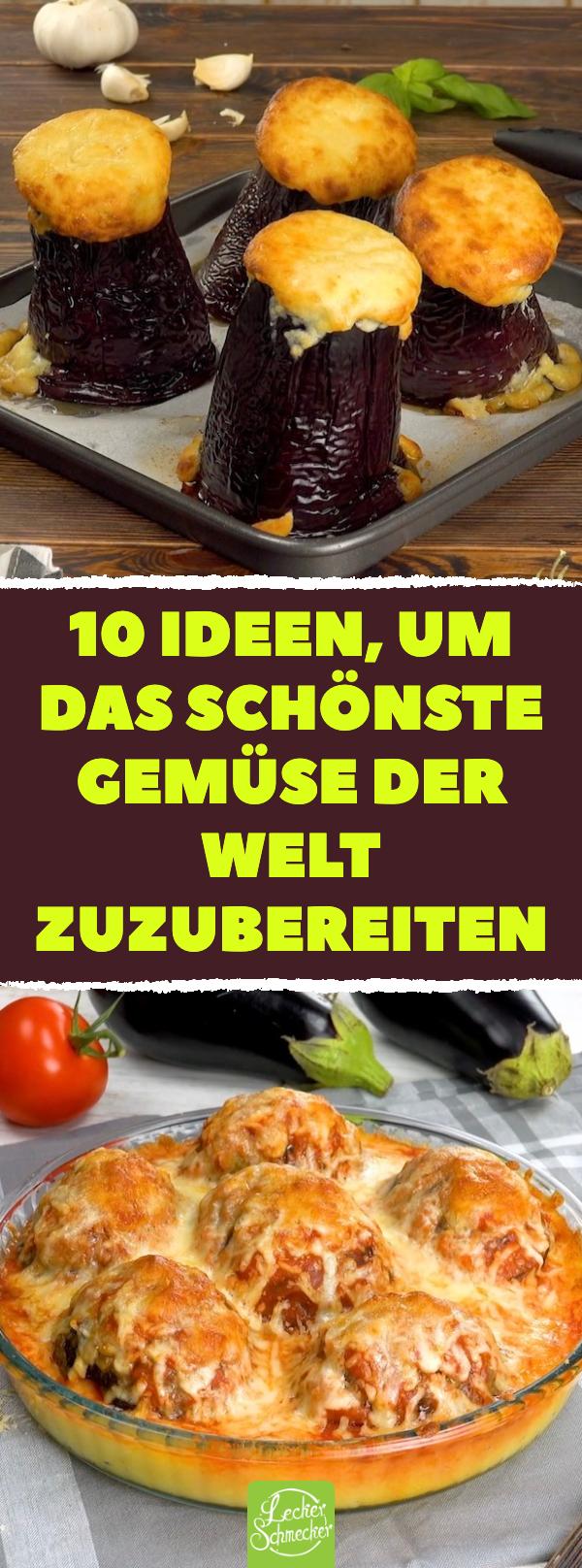 Gefüllt, gegrillt, im Kuchen oder im Auflauf: 10 abwechslungsreiche Rezepte mit Auberginen #onepandinnerschicken