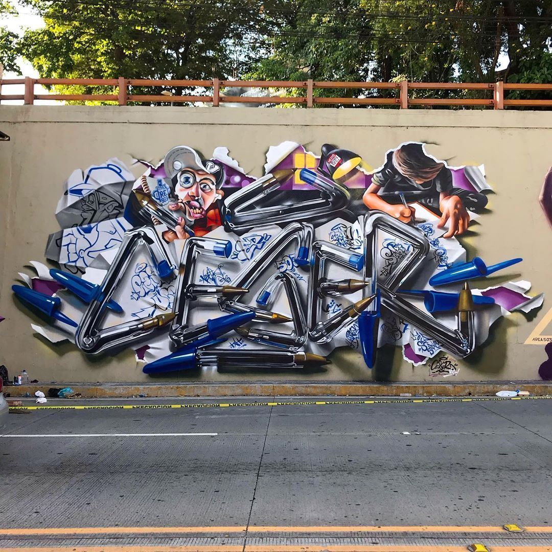 Artist Creates HyperRealistic Graffiti of His Name
