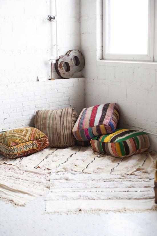 Pillow Corner Floor Seating Living
