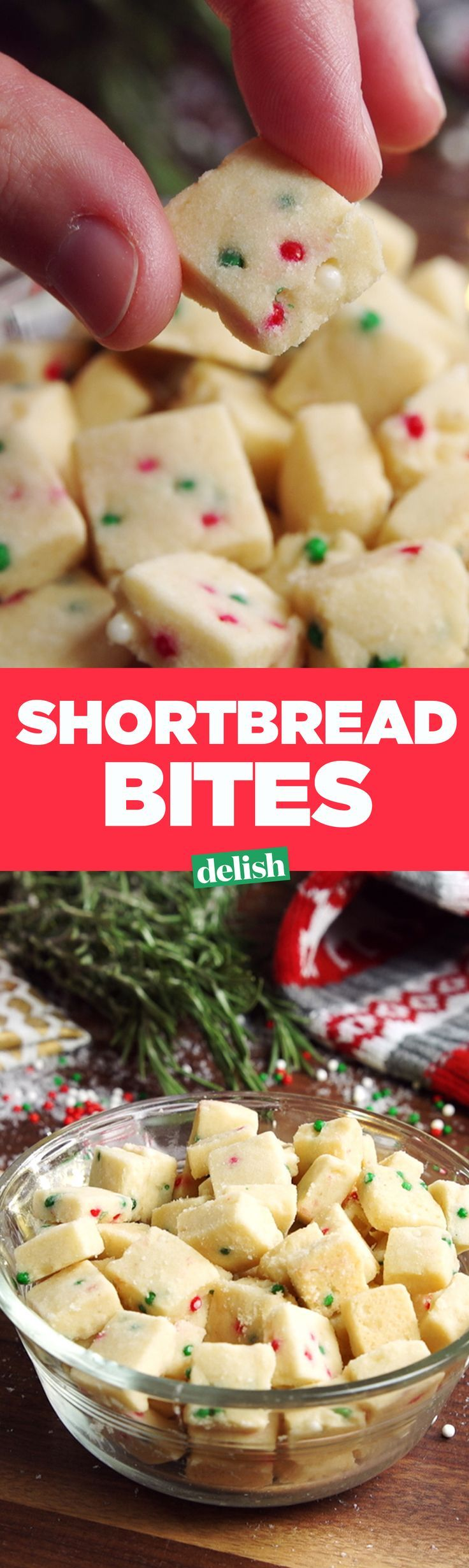 These Shortbread Bites need to be at every Christmas party you go to this year. Get the recipe on Delish.com.
