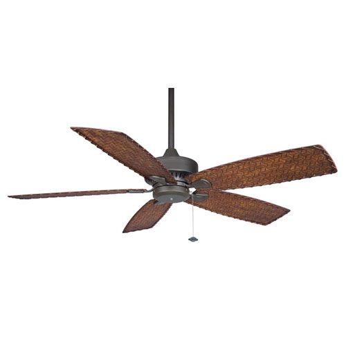 Bronze Havana Abs Blade Tropical Indoor Outdoor Ceiling: Cancun Oil-Rubbed Bronze 220V 52 Inch Blade Span Ceiling