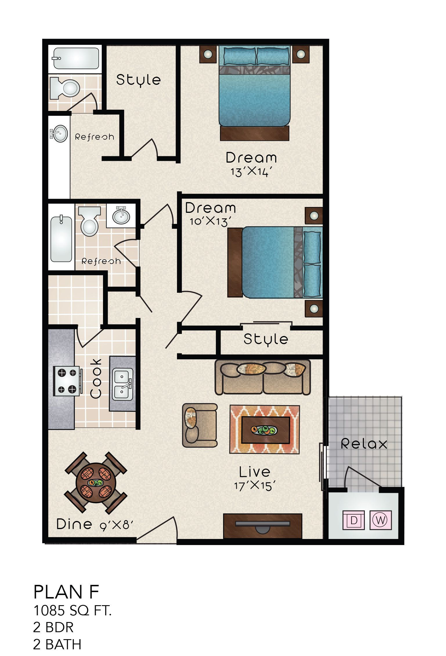 Pin By Distinction Apartment Homes On Floorplans Property Photos Small House Plans Floor Plans House Plans