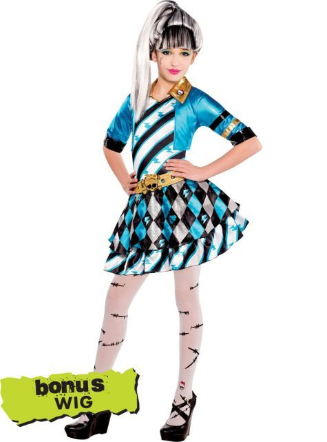 girls monster high frankie stein costume party city - All Halloween Costumes Party City