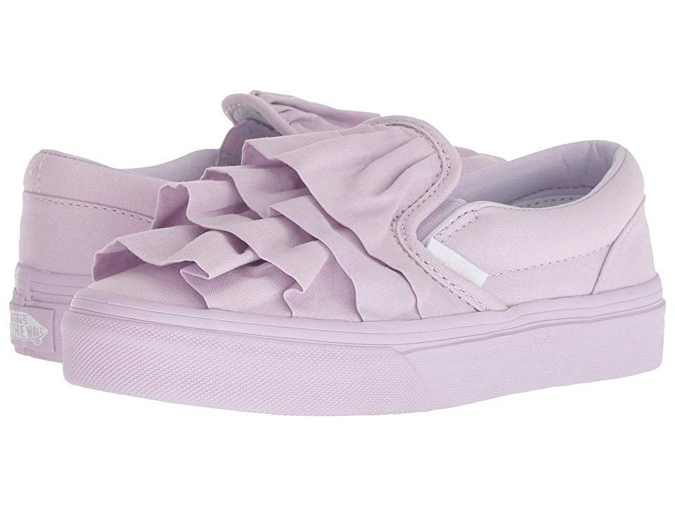 688a4ced99919d Vans Kids Classic Slip-On (Little Kid Big Kid) ((Ruffle) Lavender ...