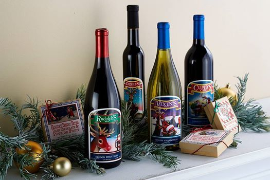 Reindeer Christmas wines from Eola Hills, the perfect addition to the holiday season!