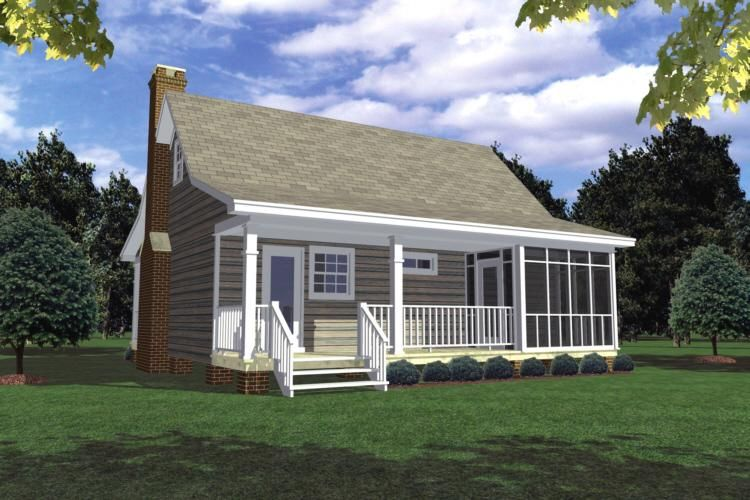 Cottage Plan: 600 Square Feet, 1 Bedroom, 1 Bathroom - 348 ...