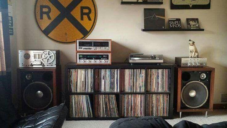 Vintage Audio Turntable Speakers Hi Fi Stereo Vinyl Record