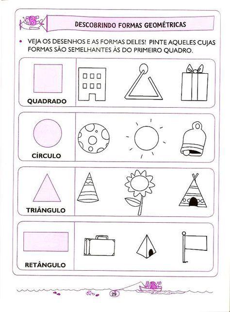 Matematica 5 E 6 Anos 21 Com Imagens Formas Geometricas