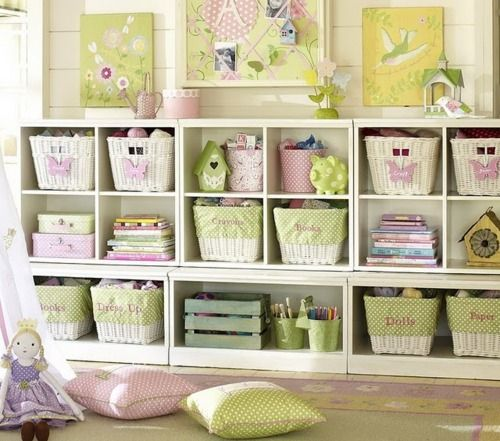 Baby room - I kind of like the look of this. A lot going on but very organized