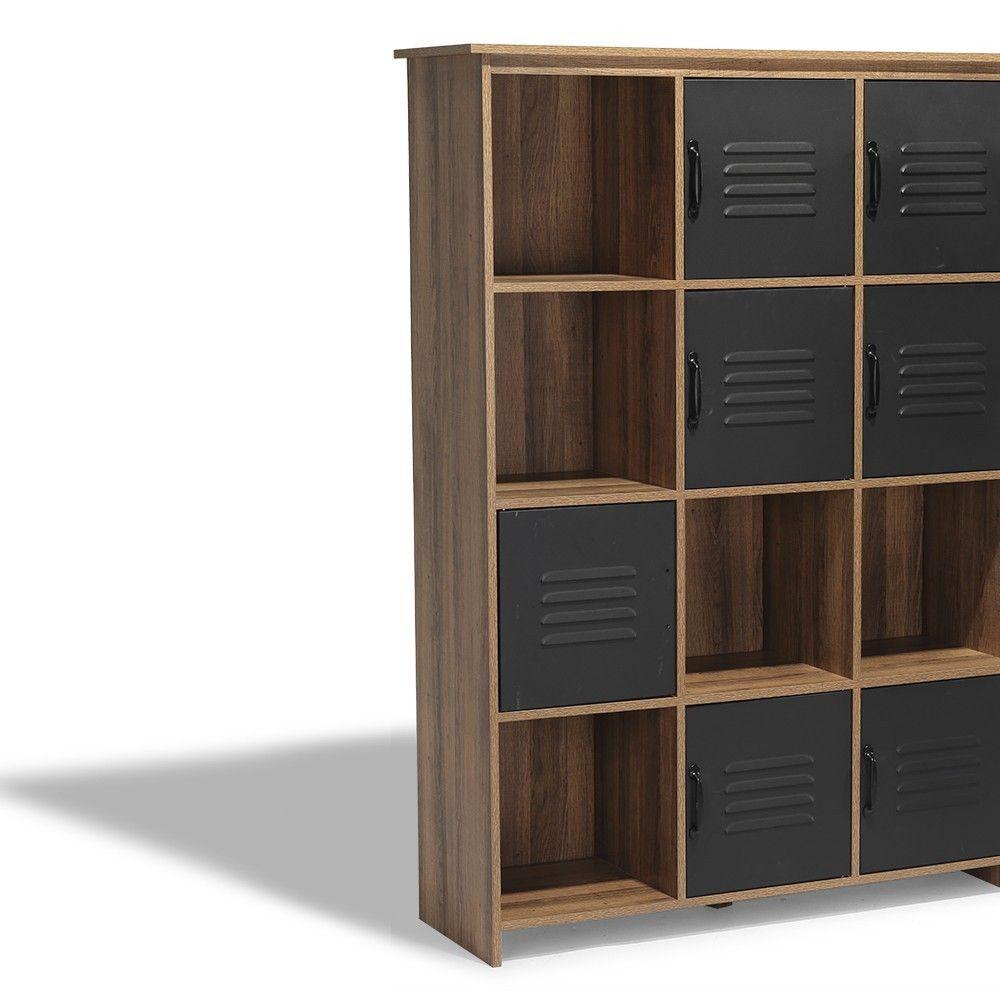 Soldes 2020 Etagere 12 Casiers Liverpool Miel Et Noire Bibliotheque Et Etagere Salon Meuble Gifi Meuble Casier Meuble Gifi Rayonnage