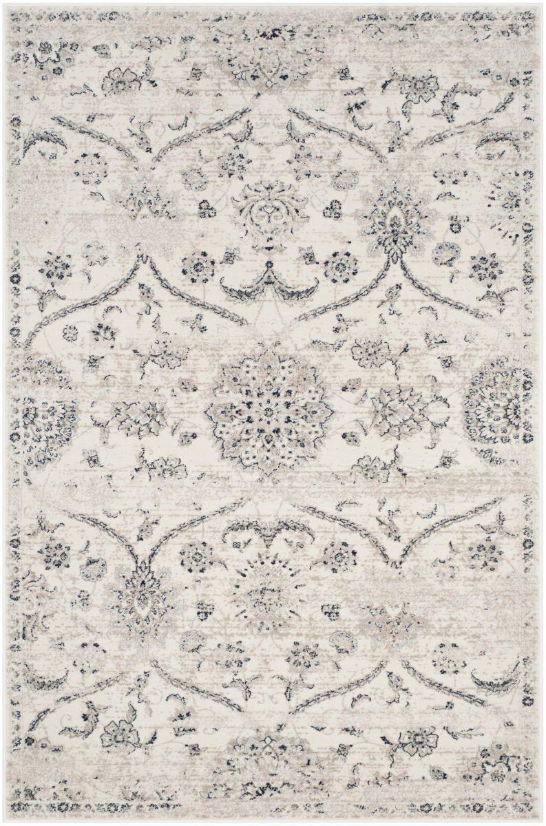 Light Grey Silver Floor Rug Classic Ornamental Design Quality Large Small Carpet