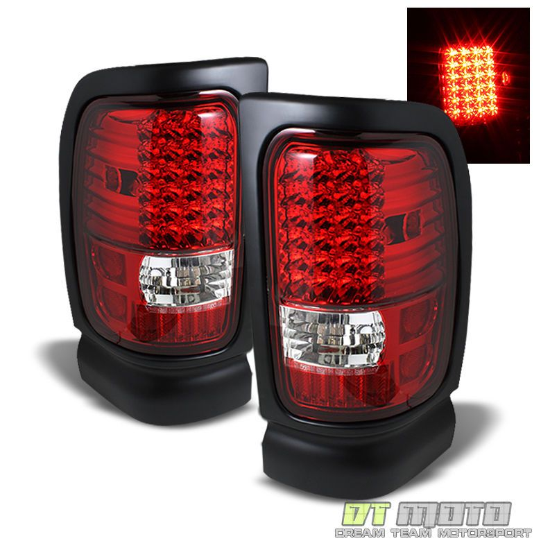 94 01 Ram Pickup Truck 1500 2500 3500 Led Red Clear Rear Brake Tail Lights Lamps Tail Light Lamp Light Ram