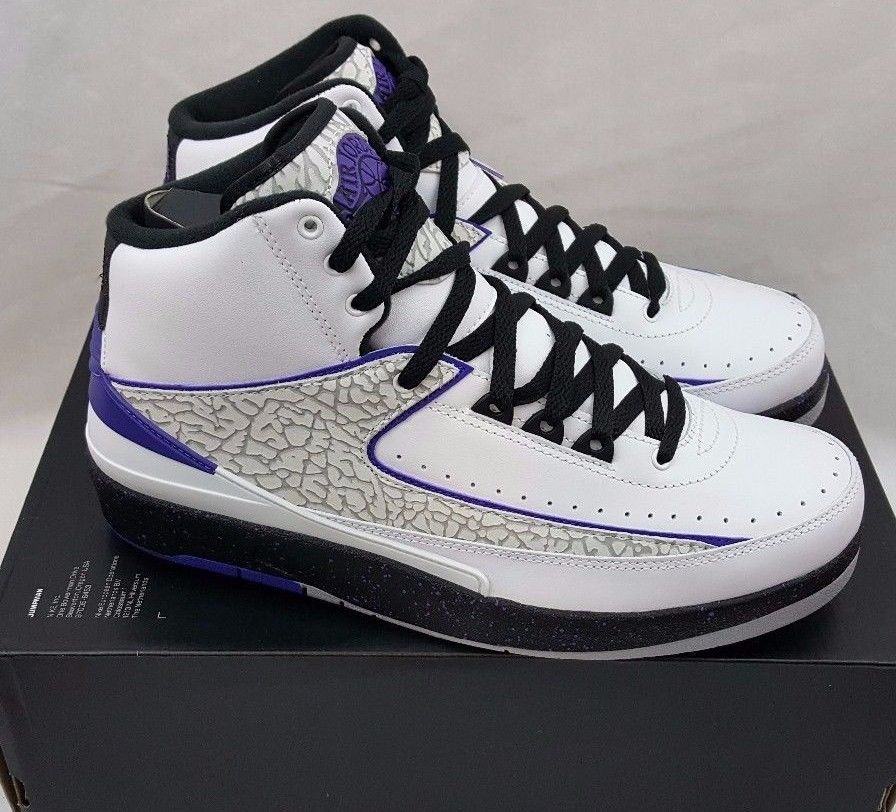 sports shoes 256bd 59a15 Nike Air Jordan 2 II Retro Dark Concord Purple Wolf Grey 385475-153 Size  8.5  Nike  AthleticSneakers