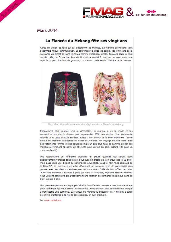 4a4eb6128c9c FashionMag.com - Mars 14 - La Fiancée du Mékong fête ses 20 ans! www ...