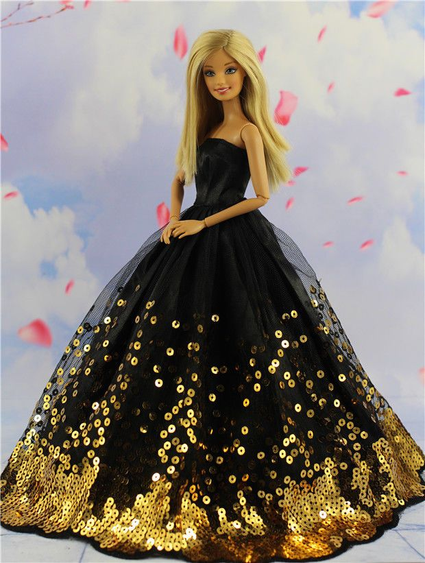 A Set of 2 Dresses We Call Sequined Beauties Made to Fit the Barbie Doll