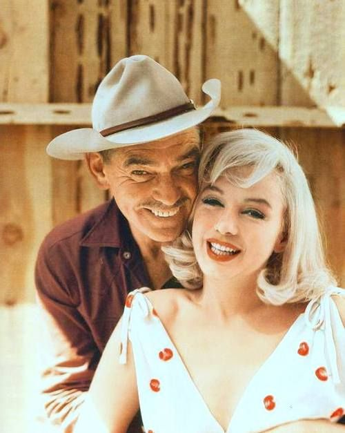 Marilyn with Clark Gable on the set of The Misfits, 1960. Photo by Elliot Erwitt.