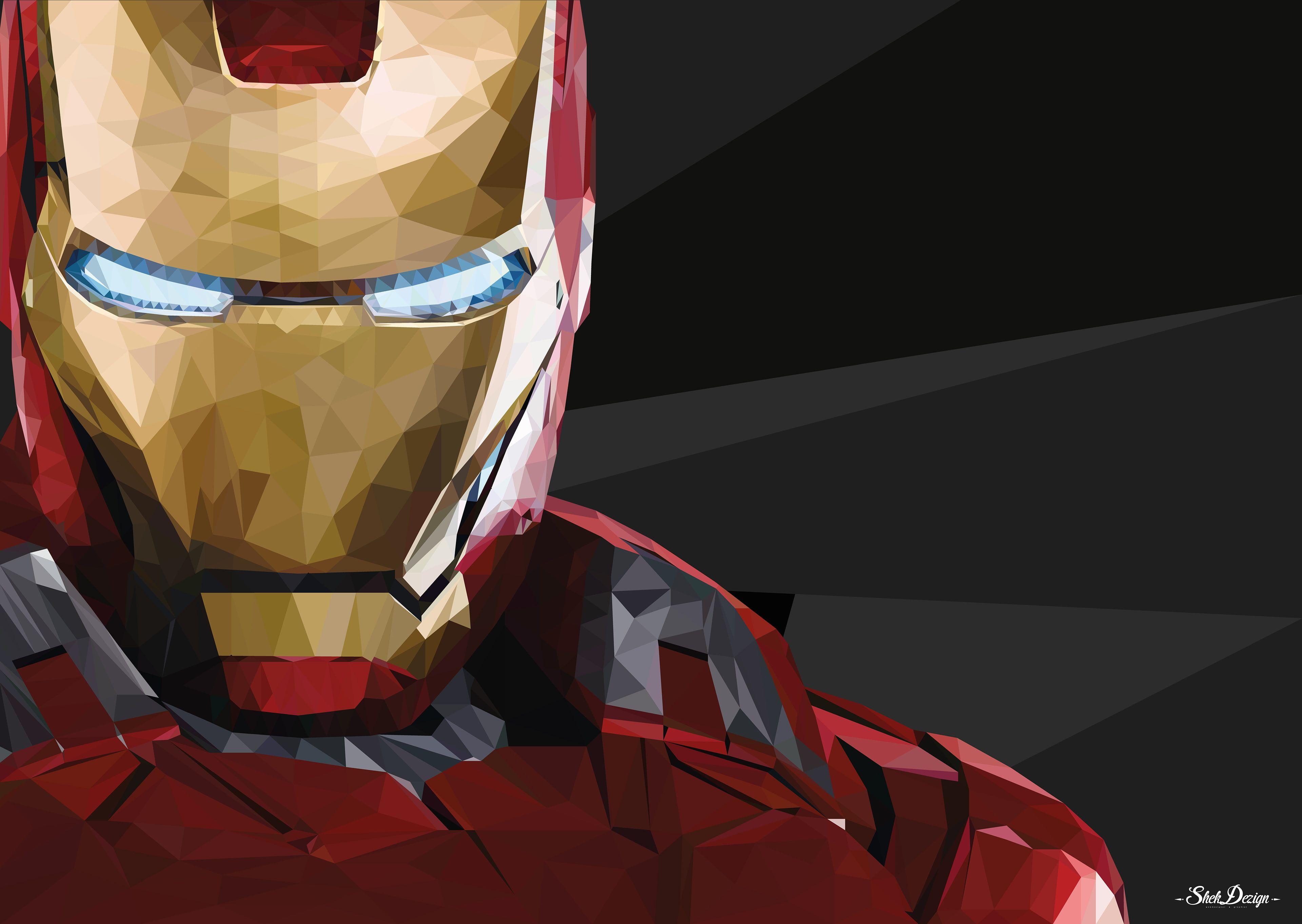 Iron Man Hd 4k Artist Behance Artwork Digital Art Superheroes 4k Wallpaper Hdwallpaper Desktop Iron Man Iron Man Wallpaper Polygon Art