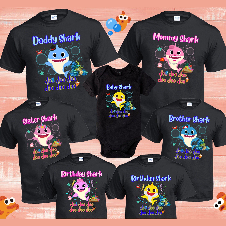 Baby Shark Birthday Gift Kids Toddlers Shirt  Mommy Shark Week  Daddy Shark Party  Shark Family Shirts Babyshark Birthday Tee Shark Week
