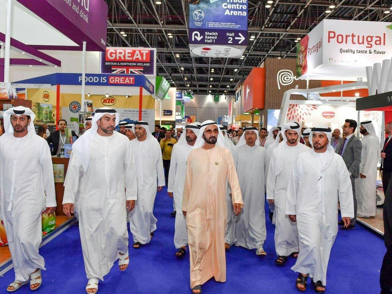 صاحب السمو الشيخ محمد بن راشد آل مكتوم يزور معرض جلفود 2019 في دورته الرابعة والعشرين الذي يستضيفه مركز دبي التجاري العالمي على مدى خم Dubai Event The Crown