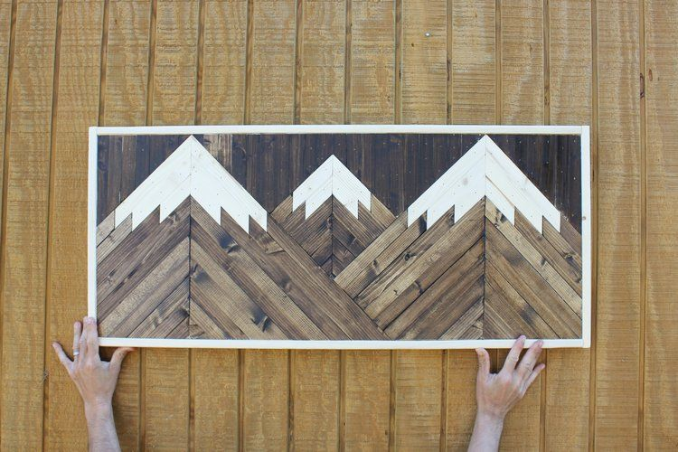 The mountains are calling john muir wall art geometric snow capped woodwork