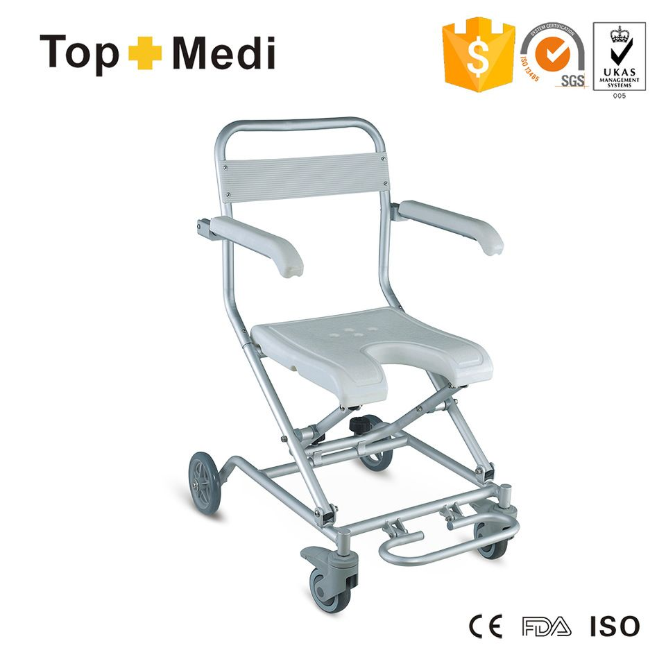 Modern Design High end Bath and Shower Disabled Chair with wheels ...