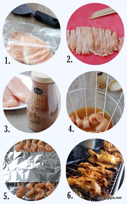 How to make chicken satay - recipe on NoBiggie.net