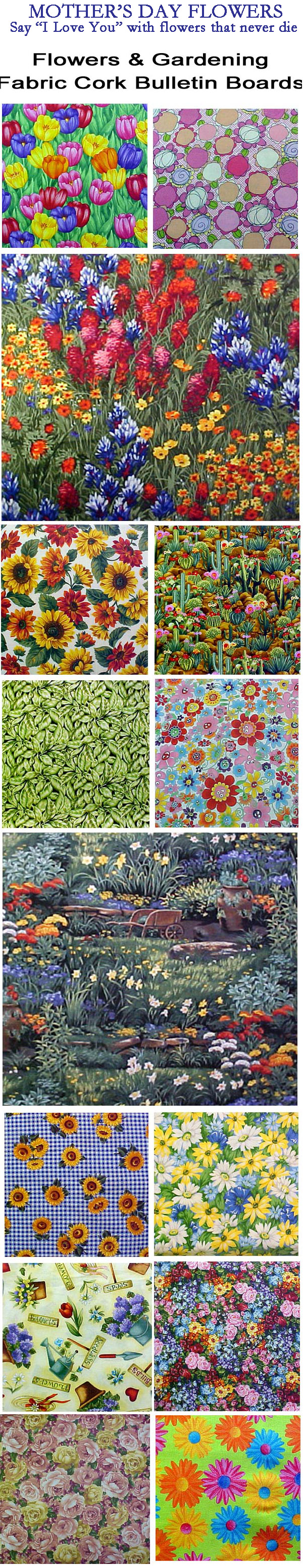 Mothers and flowers are appropriate. Give her a beautiful fabric covered cork bulletin board of flowers to brighten up her day every day and top it off with matching flower decorative push pins. at http://www.PushPinsAndFabricCorkBoards.com