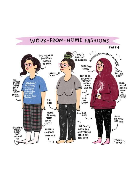 Work From Home Fashions Part 4 Digital Download In 2021 Working From Home Meme Hand Illustration Working From Home