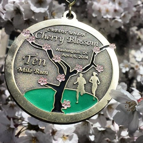 Rock N Roll Usa Half Marathon Race Recap Running Medals Half Marathons Races Cherry Blossom
