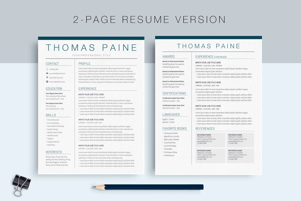Ad Google Docs Resume Template by MioDocs on
