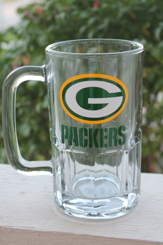Green Bay Packers 20oz Beer Mug By Ribboninherhair On Etsy 15 00 Packers Football Gre Green Bay Packers Funny Green Bay Packers Clothing Green Bay Packers
