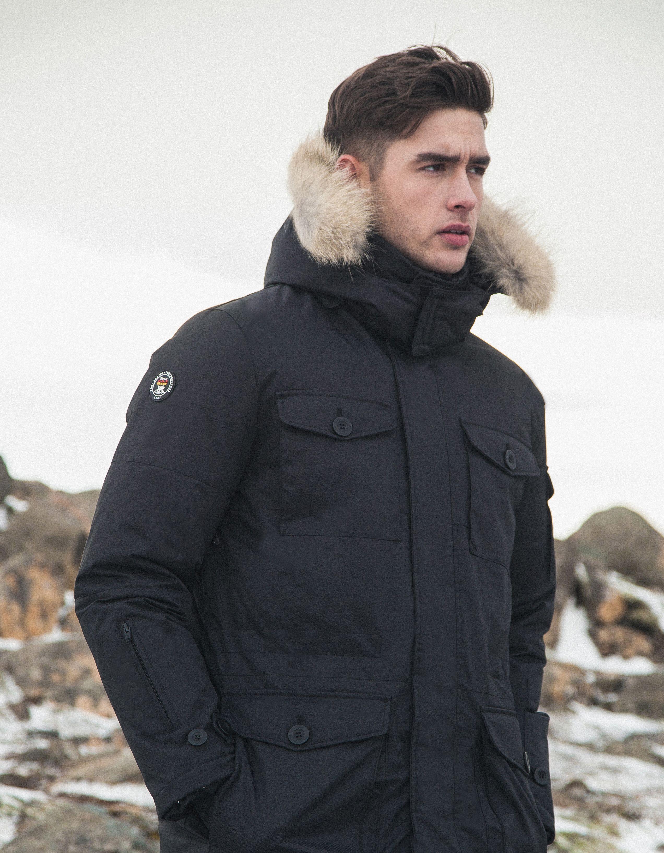 2019 Mens Parka Jacket Winter Fleece Multi-pocket Casual Quilted Jacket Men Winter Coats Winter Clothes Bubble Coat Good Heat Preservation Parkas