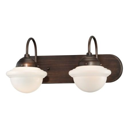 Photo of Millennium Lighting 5412-RBZ Neo-Industrial 2 Light bathroom vanity lamp made of rubbed bronze