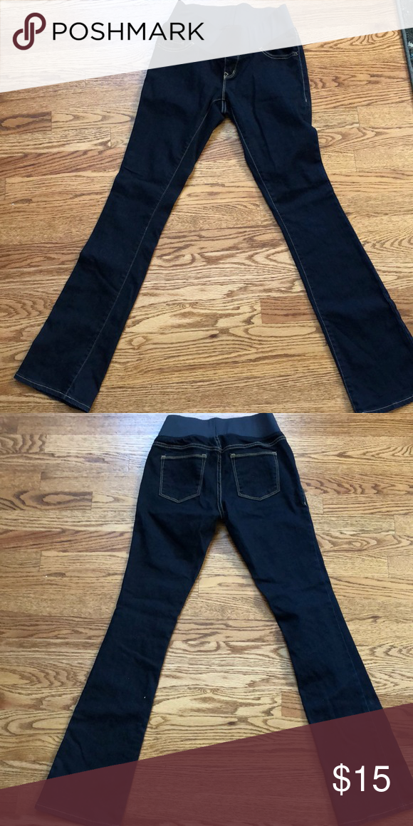b84bbb36ffcab Maternity jeans from Old Navy! Rockstar Demi-boot cut maternity pants from Old  Navy. Size 2 regular, dark wash and like new! Old Navy Jeans Boot Cut