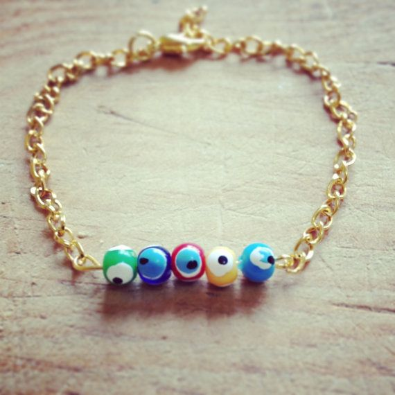 simple smart design evil eye bracelet perfect by ALBINAJEWERLY, $6.00  #evileye #bracelet #etsy #handmade #fashion #diy