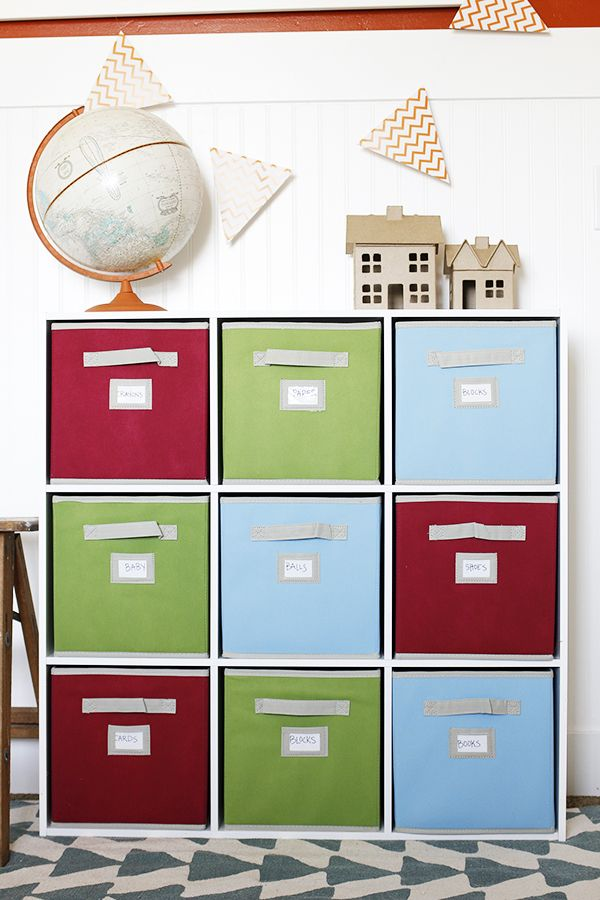 Kids Room Organization With A Cube Organizer