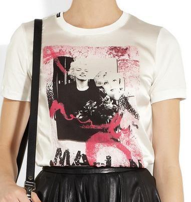 Dolce & Gabannas Printed Cotton and Silk Marilyn Monroe T-Shirt